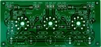 PCB - RIAA Preamplifier, tubes on the parts side TES