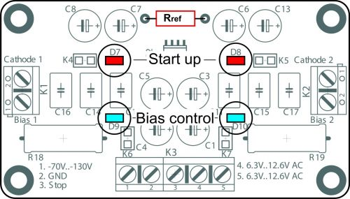 Automatic bias supply module for two push-pull (PP) tube AB-2