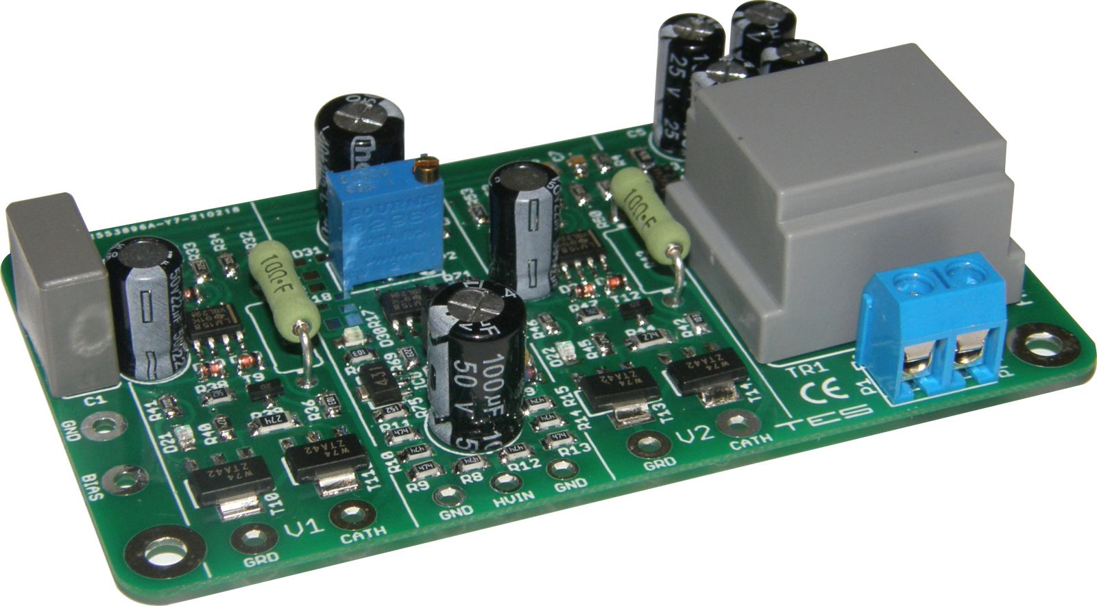 Module AB-Di for 2 tubes, PP & PPP amps, with a 6.3VAC isolation transformer for use in amps where the 6.3VAC filament supply is referenced to ground. Also requires bias supply from the amps circuit. TES